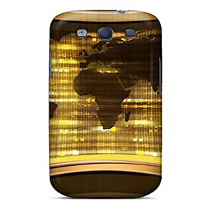 BnX13555EvoB Cometomecovers Awesome Cases Covers Compatible With Galaxy S3 - 3d World Map