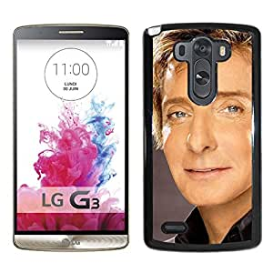 Beautiful Designed Cover Case With Barry Manilow Face Eyes Suit Shirt For LG G3 Phone Case