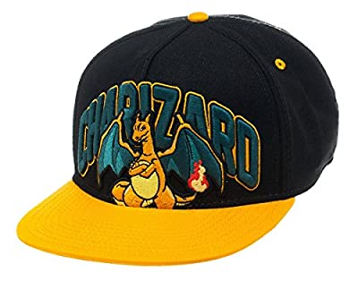 Pokemon Baseball Cap Charizard Official Black Snapback by Pokemon