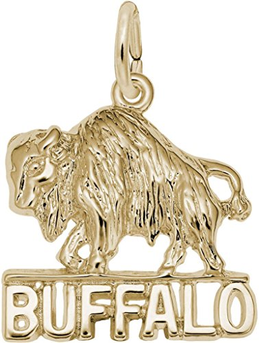 Rembrandt Buffalo Charm - Metal - 14K Yellow (14k Gold Buffalo Charm)