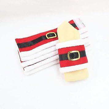 Lxj Suministros de decoración de la Navidad de anillo de toalla de Navidad servilleta de ropa