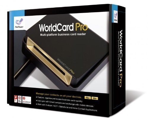 WorldCard Pro Business Card Scanner (Newest Version), Outlook Support, Multiple languages. Bundle with Hot Deals 4 Less Premium Portable Power Backup Charger for ultimate portability. by Penpower&HD4L
