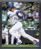 "Domingo Santana Milwaukee Brewers Action Photo (Size: 12"" x 15"") Framed"