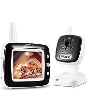 Baby Monitor InLife 2,4GHz Wireless con 3,5inch Telecamera Videocamera LCD Colorata Visione Notturna Ninna Nanna Monitoraggio Temperatura Videosorveglianza Citofoni Bidirezionali