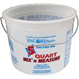 Encore Plastics 5166 Mix 'N Measure Ringfree Plastic Pail with Wire Handle, 5-Quart
