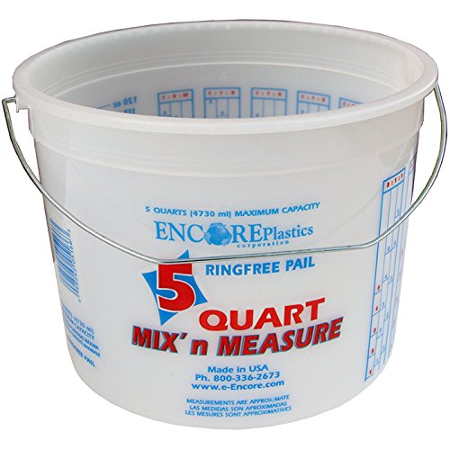 Mix 'N Measure Ringfree Plastic Pail with Wire Handle, 5-Quart ()