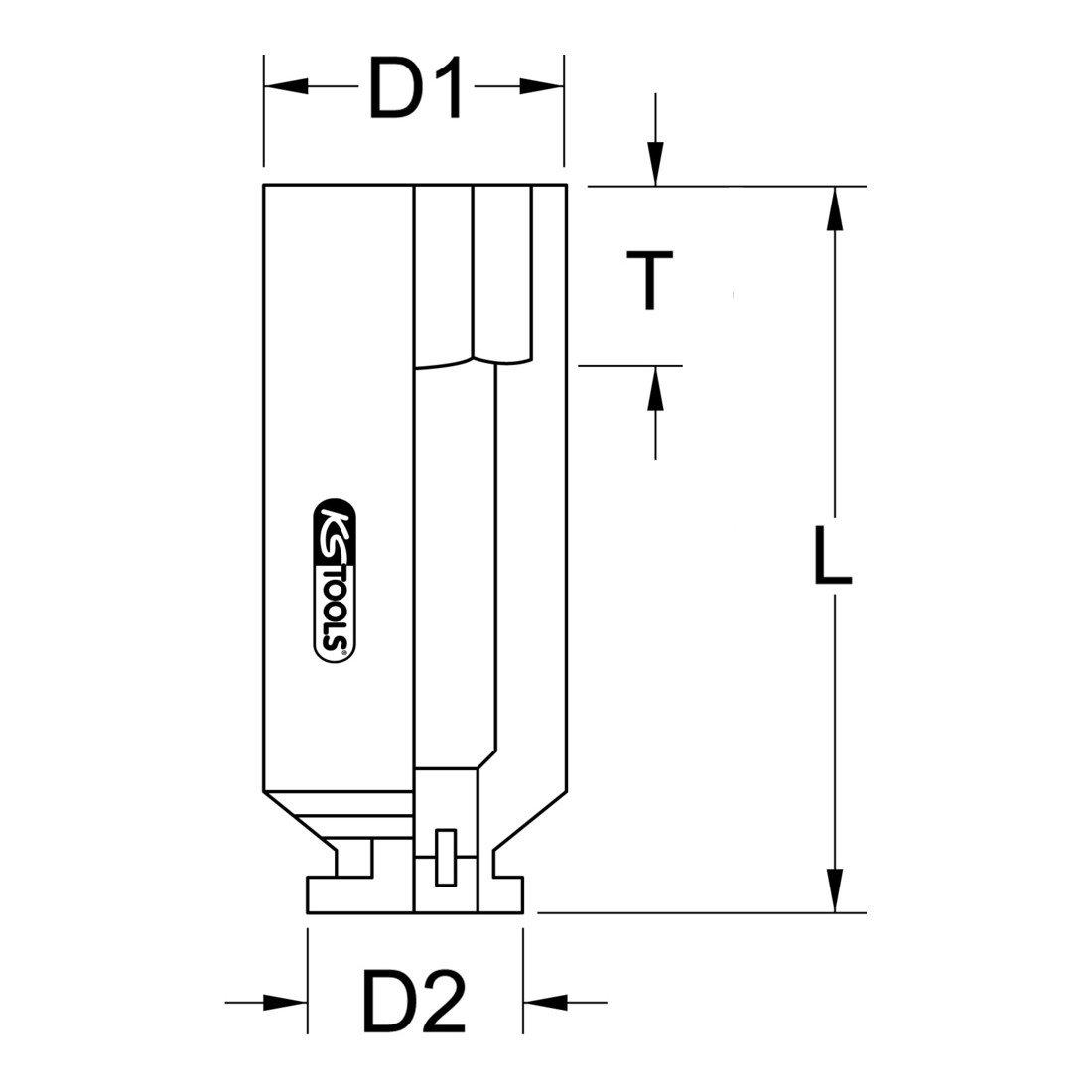 1/'/' KS TOOLS 515.2136 Douille /à chocs 6 pans 36mm Longueur 76mm