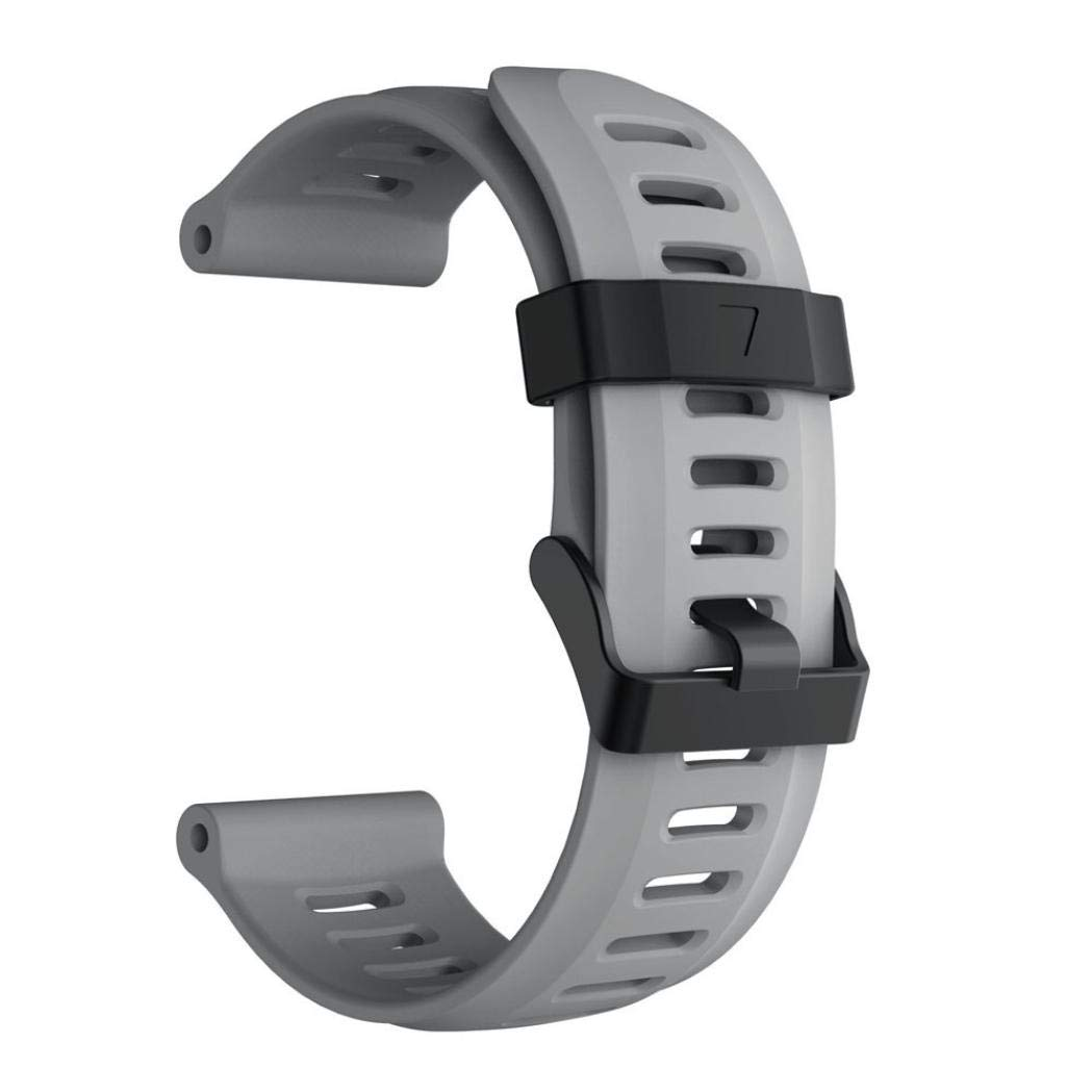 For Garmin Fenix 5X Plus,KFSO Soft Silicone Strap Replacement Watch Band (Gray)