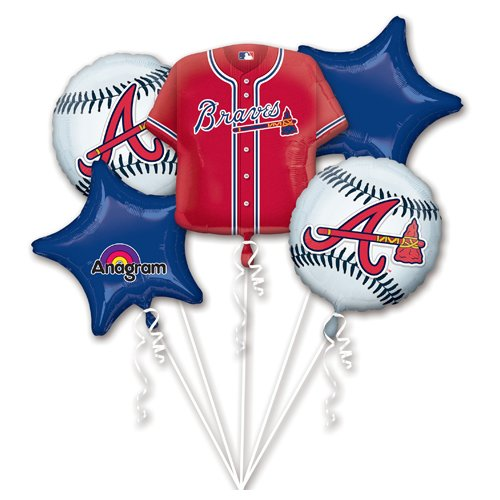 Anagram 32042 Atlanta Braves Balloon Bouquet