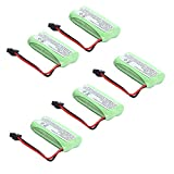 5 pcs Masione 2.4V Phone Battery for Uniden BT-1021 BT-1025 BT-1008 DCX-210 800mAh