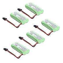 5 pcs Masione 2.4V Phone Battery for Uniden BT-1021 BT-1025 BT-1008 DCX-210 800mAh