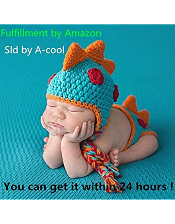 3440a8122 A-cool Crocheted Baby Boy Dinosaur Outfit Newborn Photography Props  Handmade Knitted Photo Prop Infant