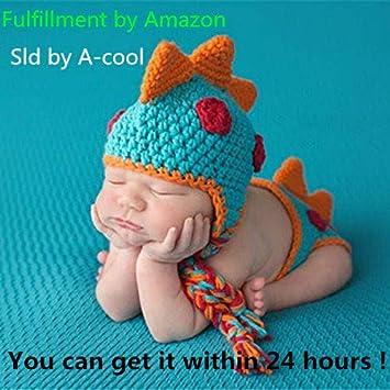 Amazoncom A Cool Crocheted Baby Boy Dinosaur Outfit Newborn