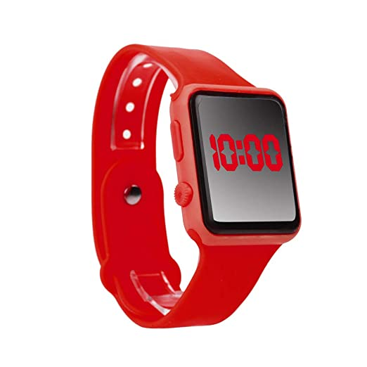8763f5ec9506 Yivise Unisex Digital LED Reloj Deportivo Banda de Silicona Hombres Niños  Adultos Moda Relojes de Pulsera