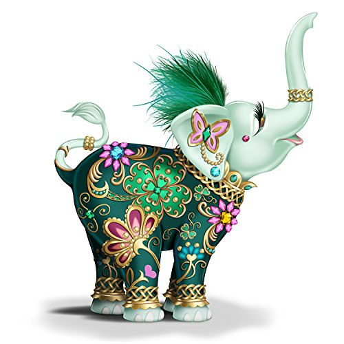- The Hamilton Collection Irish Inspired Margaret Le Van Hand-Painted Elephant Figurine with Feathers
