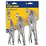 IRWIN Tools Vise-Grip Locking Pliers, Original, 3-Piece Set, 10WR, 7R and 6LN (323S)