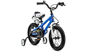 RoyalBaby Kids Bike Boys Girls Freestyle Bicycle 12 14 16 inch with Training Wheels,16 18 20 inch with Kickstand Child's Bike Blue Red Orange Green Pink White Fuchsia