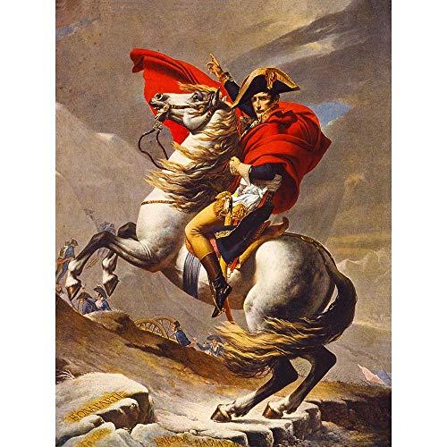 - Wee Blue Coo Paintings Portrait Napoleon Bonaparte Emperor France Alps Horse Unframed Wall Art Print Poster Home Decor Premium