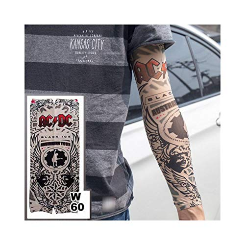 (New Fashion Fake Temporary Tattoo Arm Sleeves Dragon Love Design Reuse Unisex Fake Slip On Tattoo Arm Sleeves Kit w60)