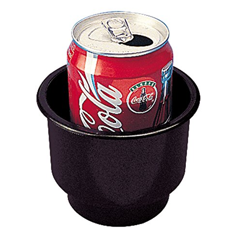Dual Cup Drink Holder (Sea-Dog 588060 Flush Mount Combo Drink Holder With Drain Holes -)