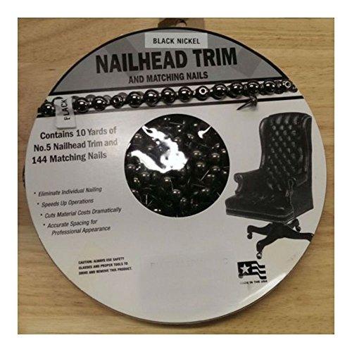 30 Feet BLACK NICKEL Upholstery Tackstrips Roll Nail Strip Nailhead Trim U.S.A. (Brass Trim Nailhead)