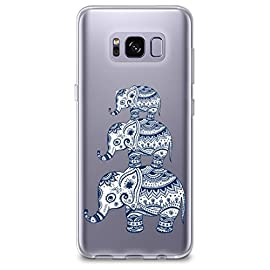 CasesByLorraine Compatible with Galaxy S8 Plus Case, Aztec Elephant Clear Transparent Flexible TPU Soft Gel Protective… 3 APPLICABLE MODELS - Designed specifically for Samsung Galaxy S8 only. PROTECTIVE MATERIAL - High quality TPU Soft case covers all edges of the phone. Raised lip to protect the front screen. Protects your phone against dust, dirt and scratches. PERFECT FIT - Precise cut and design makes you easily access to all ports, buttons, camera and all features.
