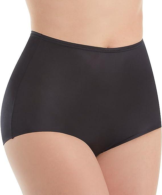 Shadowline Womens Hidden Elastic Nylon Full Brief Panty 3-Pack Underwear