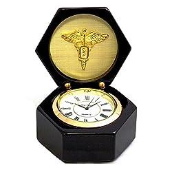 Desk Clocks - Dental Profession Desk Clock - Medicine - Dentistry - Caduceus