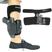 ComfortTac Ankle Holster with Calf Strap and Spare Magazine Pouch for Concealed Carry | One Size Fits All | Fits Glock 19, 26, 36, 42, 43, S&W Shield, Bodyguard 380, Ruger LCP, LC9, and Similar Guns