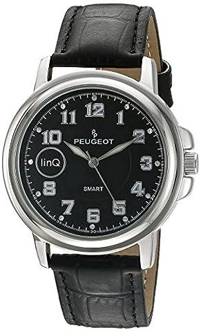 Peugeot Men's 'Bluetooth Connected' Quartz Metal and Leather Smart Watch, Color:Black (Model: (One Direction Phone Case Cheap)