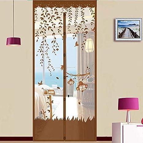 Summer home mesh gasa net anti-mosquitos mosca cortina cierre automático imán suave pantalla puerta cocina cortina puerta A1 W110xH210