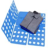 YEVIOR Clothes Folding Board Adult SizeAdjustable T-Shirt Clothes Easy Laundry Folder Organize Blue