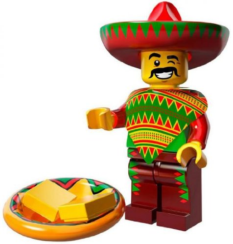 LEGO The Lego Movie Collectible Series Minifigure - Taco Tuesday Guy (71004)