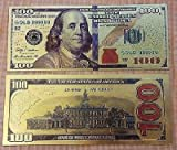 24K $100 US Gold Banknotes Dollar Currency World Banknote Paper Money Collectible Gifts