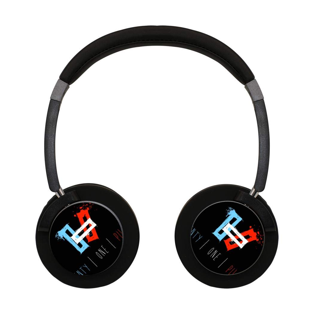 21 One Pilots Wireless Bluetooth Headphones Over-Ear Earphones Adjustable Hi-Fi Headphones Foldable Sound Headset for Youth Adults