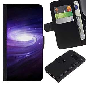 UNIQCASE - Samsung Galaxy S6 SM-G920 - Galaxy Belt Of Stars Space - Cuero PU Delgado caso cubierta Shell Armor Funda Case Cover