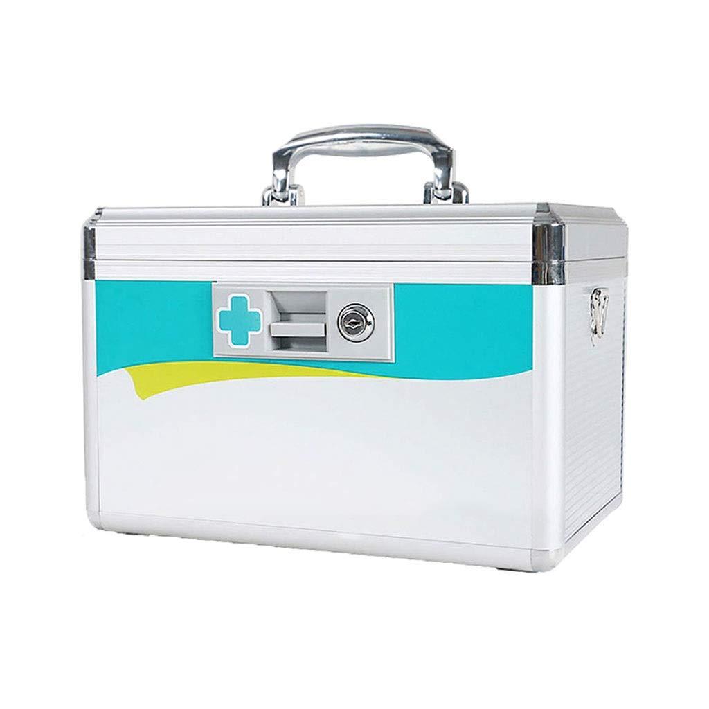 家の救急処置ロックの薬収納ボックスが付いている多層分類のアルミ合金の医療用キット HUXIUPING   B07TL6RBKD