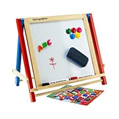 A Fun And Creative Environment Anywhere! No matter where in the home or on the road your child will have a wonderful place to create, draw or paint. Although it is quite sturdy it is also lightweight and portable. Side bar prevents collapsing...