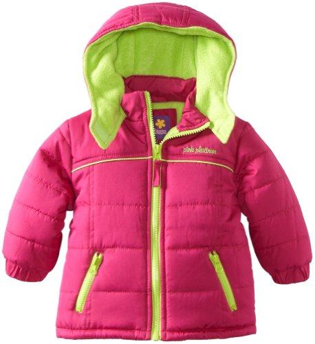 Pink Platinum Baby Girls' Promo Puffer Contrast Lining Jacket
