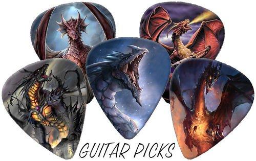 Dragons Full Colour Premium Guitar Picks x 5 Medium 0.71]()