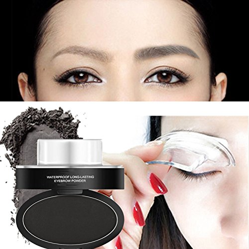 Natural Eyebrow Stamp In Seconds Stamper Powder Waterproof Long Lasting Gray Easy Press Shapes