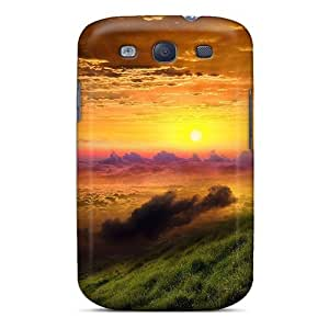 Defender Case For Galaxy S3, Colorful Sunrise Above The Clouds Pattern