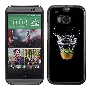 EJOY---Cubierta de la caja de protección la piel dura para el / HTC One M8 / --Kiwi Splash