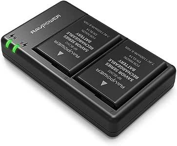 EN-EL14 EN EL14A RAVPower Battery Charger and 2-Pack Rechargeable Li-ion Batteries Compatible with Nikon D5600 D3300 D3500 D5100 D5500 D3100 D3200 D5200 D5300 Coolpix P7000 P7100 P7200 P7700 P7800