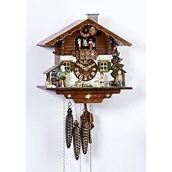 Schneider 11 Inch Black Forest Heidi With Jumping Goat Cuckoo Clock