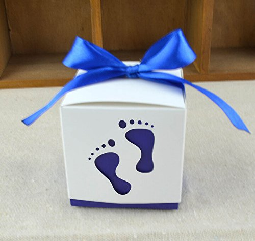 Computone Royal Blue Laser Cut Feet Shape Boy Baby Shower...