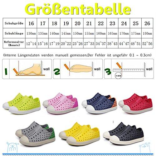 ZanYeing Unisex-Babys Lauflernschuhe Geschlossene Sandalen Badeschuhe Ultraleichte Sommer ClogsNette Sandale Für Kleinkind Junge Mädchen Grün