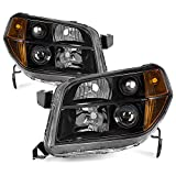 ACANII - For Black 2006 2007 2008 Honda Pilot Headlights Headlamps Aftermarket Driver + Passenger Side