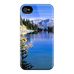 Quality Sandrower Case Cover With Lake Agnes Nice Appearance Compatible With Iphone 4/4s