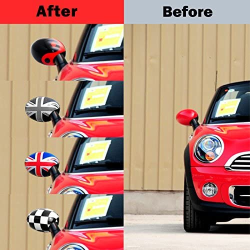 R50 R52 R53 YaaGoo Outside Wing Door Mirror Cover Plastic Decoration with Sticker Tape for Mini Cooper,Union Jack
